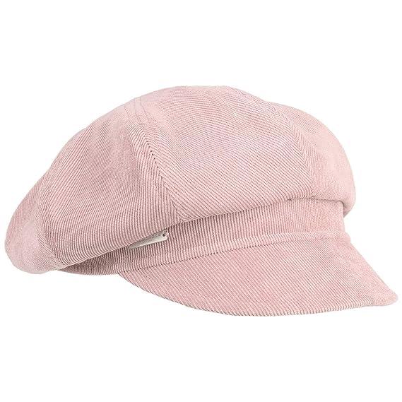 85b0e110 Seeberger Fine Corduroy Newsboy Cap Winter (One Size - Rose): Amazon.co.uk:  Clothing