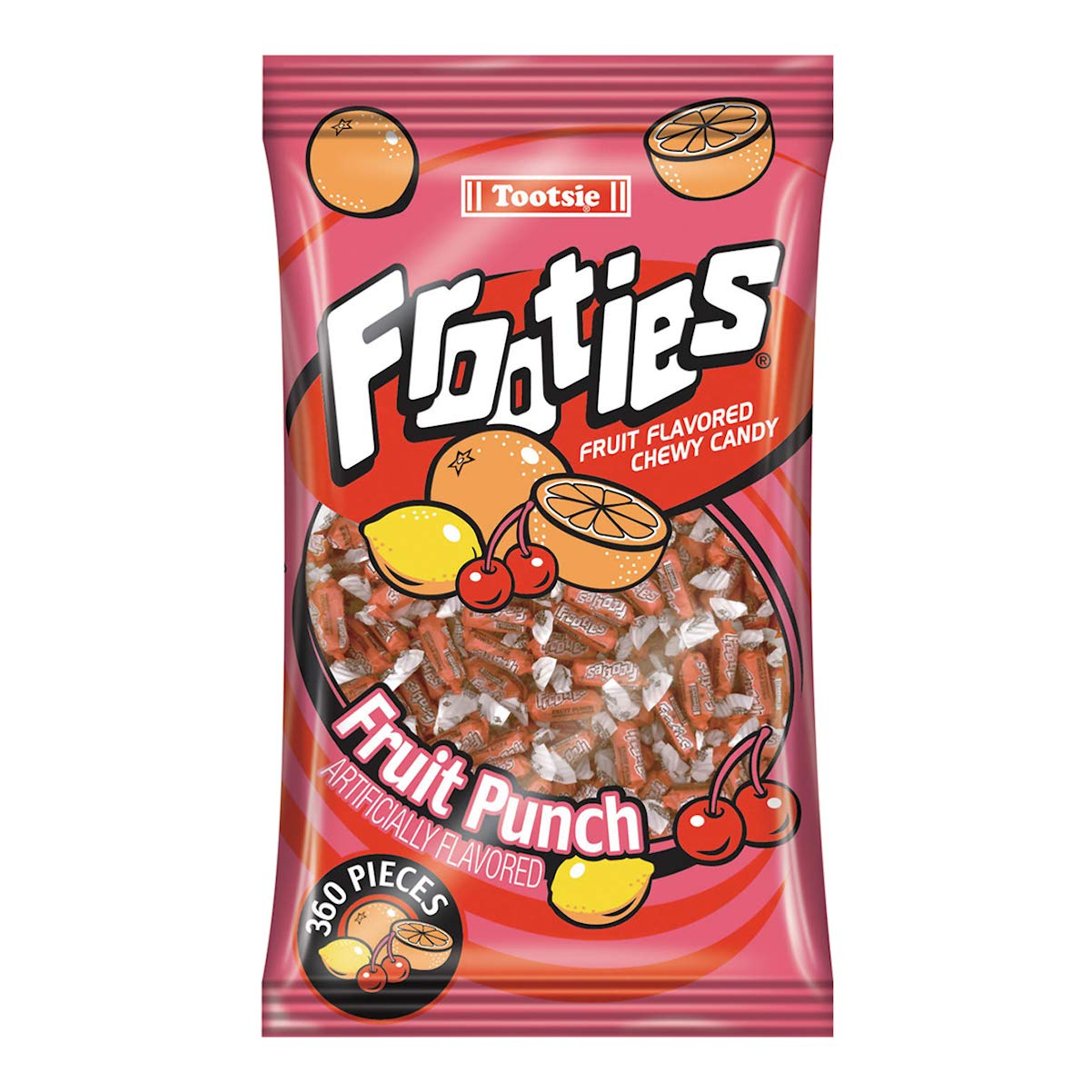 Fruit Punch Frooties - Tootsie Roll Chewy Candy - 360 Piece Count, 38.8 oz Bag