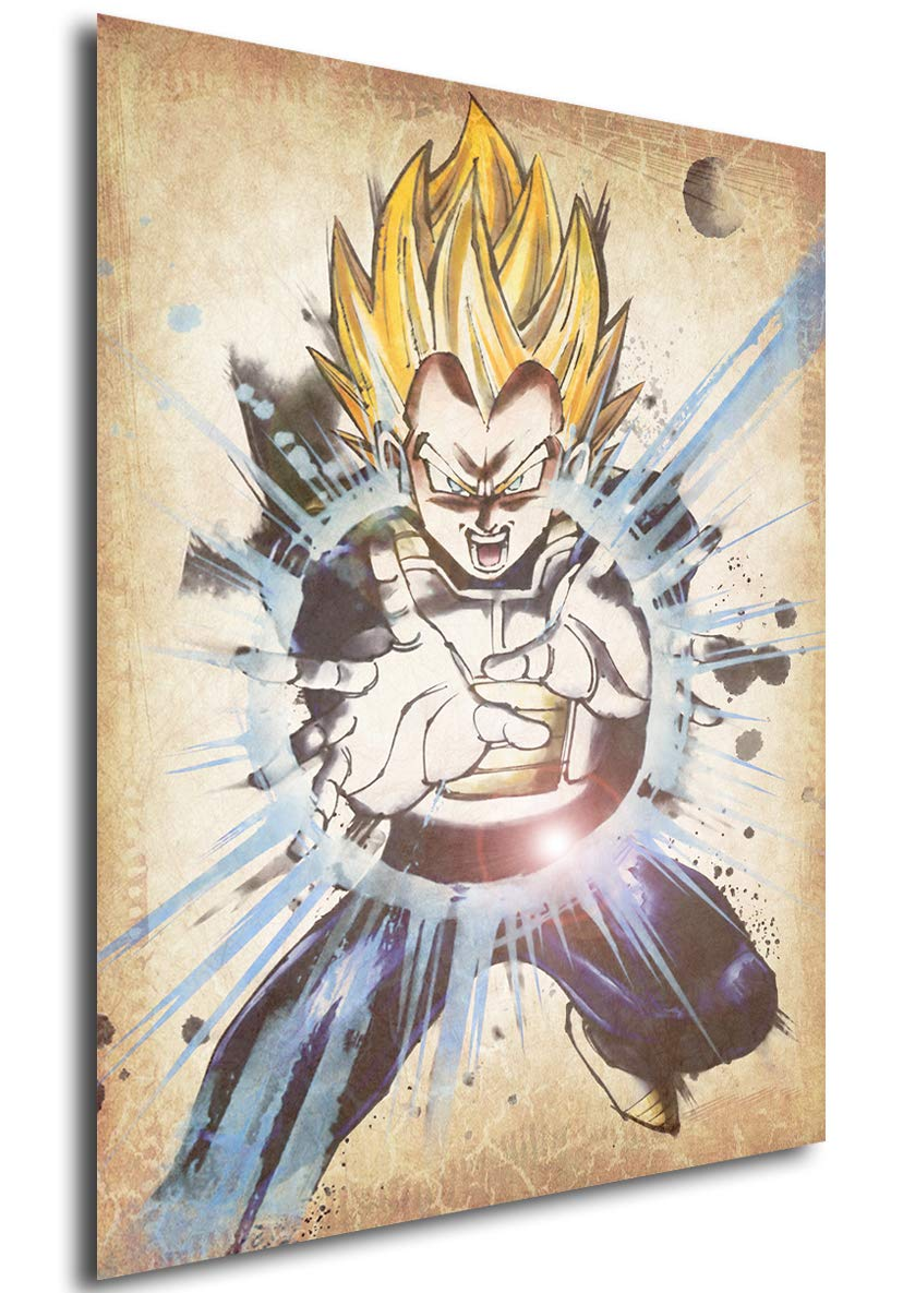 Poster Dragon Ball Wanted Vegeta SSJ - Formato A3 (42x30 cm) Easy Exp & Imp Limited