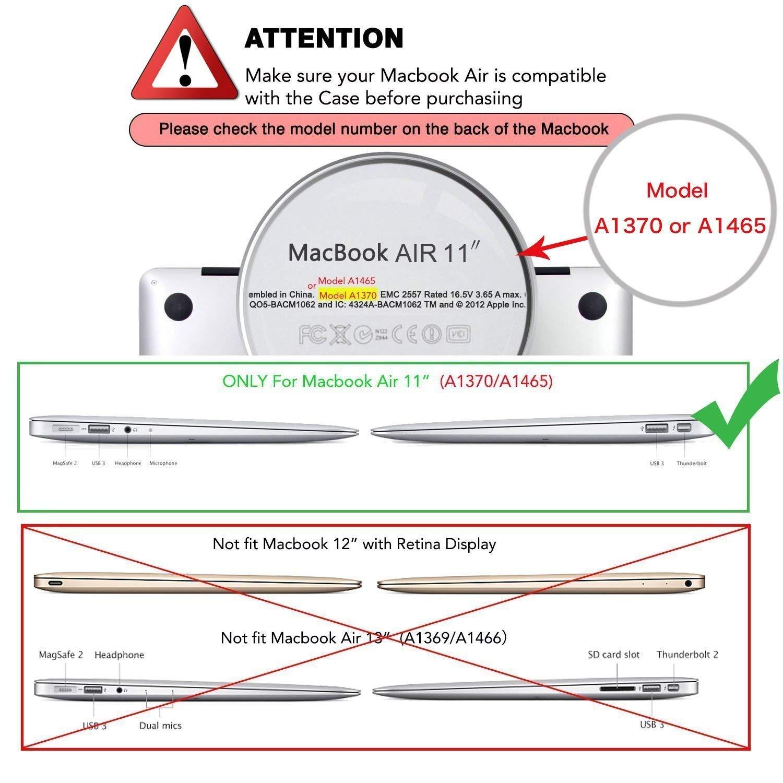 MOSISO Funda Dura Compatible MacBook Air 11 Pulgadas (A1370 / A1465), Ultra Delgado Carcasa Rígida Protector de Plástico Cubierta, Mármol Rosado: Amazon.es: ...