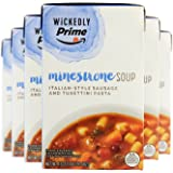 Wickedly Prime Minestrone Soup with Italian Sausage, 17 Ounce (Pack of 6)