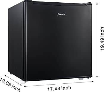 Galanz GL17BK 1.7 Cu Ft Single Door Mini Fridge