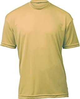 product image for WSI Microtech Loose Short Sleeve Shirt, Vegas Gold, Large