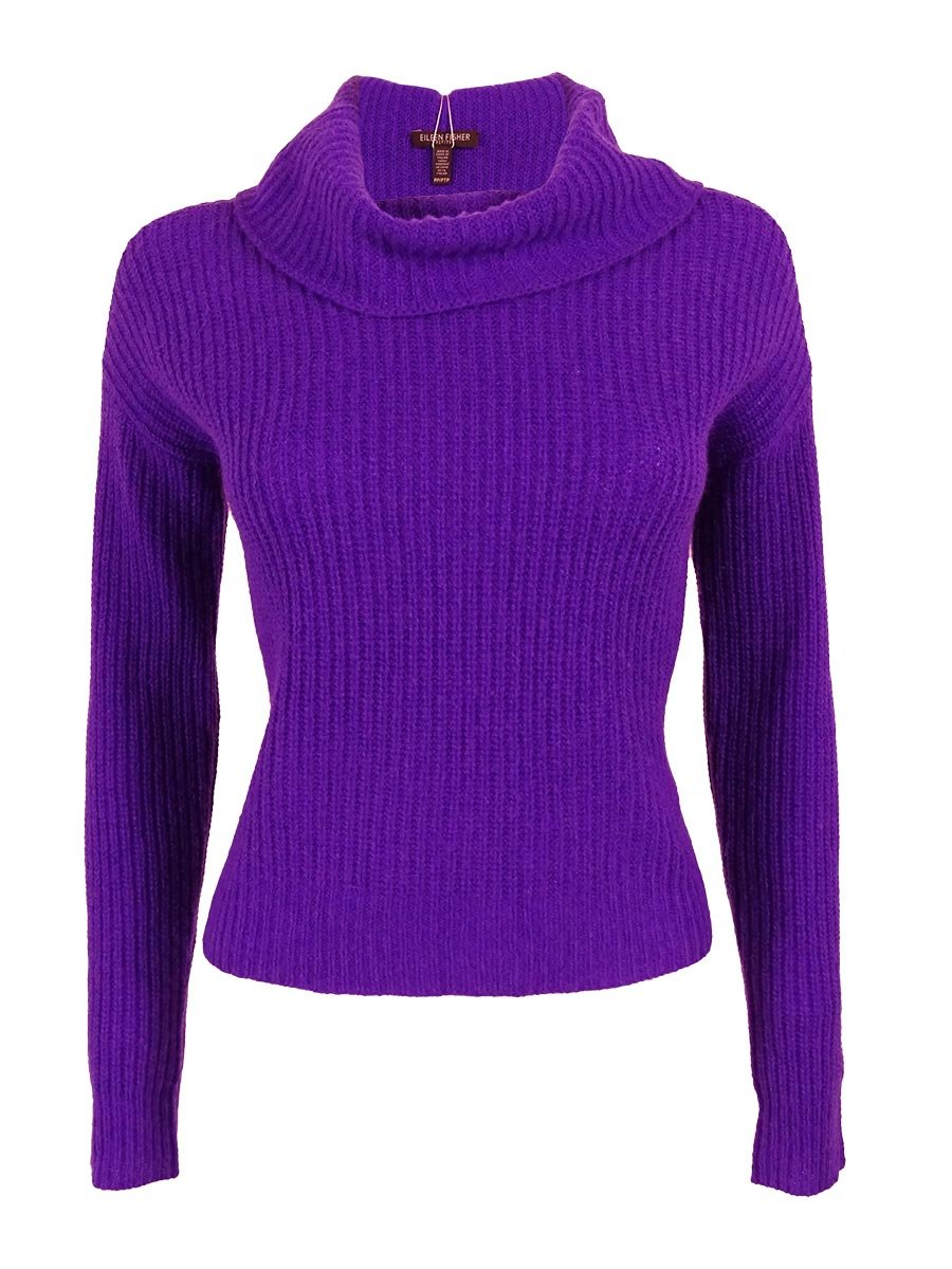 Eileen Fisher Women's Yak Wool Blend Sweater (P, Violet) by Eileen Fisher