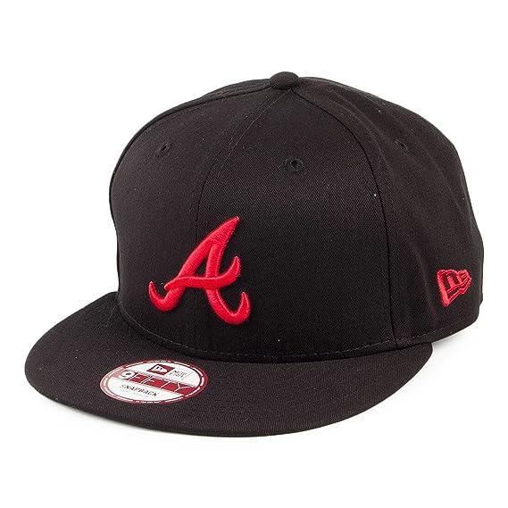 New Era 9FIFTY Atlanta Braves Snapback Cap - Season Basic - Black-Red Black  Small eabd2ee4826