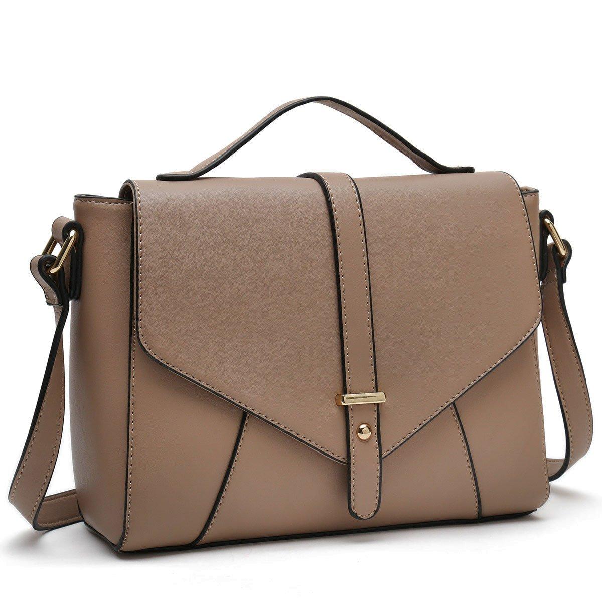 YMNHNB Medium Sized Crossbody Purses Ladies Designer Shoulder Bags for Women Handbags (Khaki)