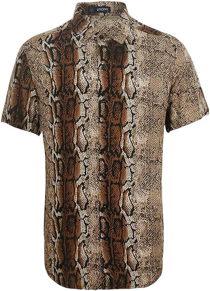 Amazon.com: Camisa hawaiana de piel de serpiente con ...