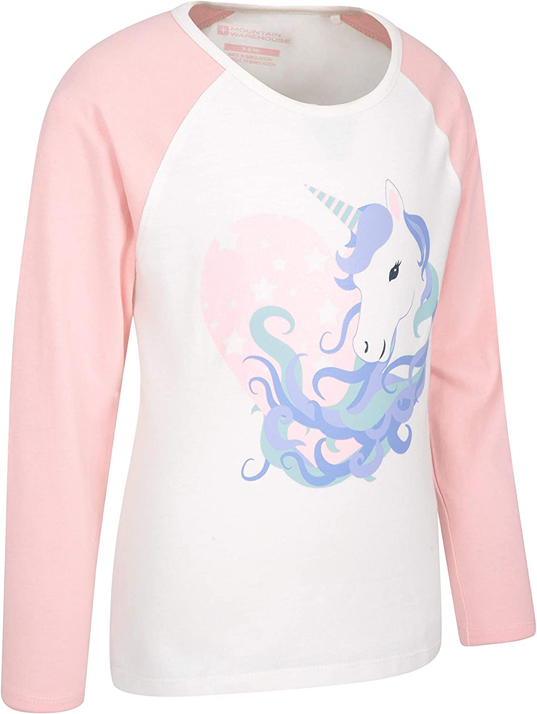 Mountain Warehouse Glitter Unicorn Kids 100/% Cotton Tee UV T-shirt