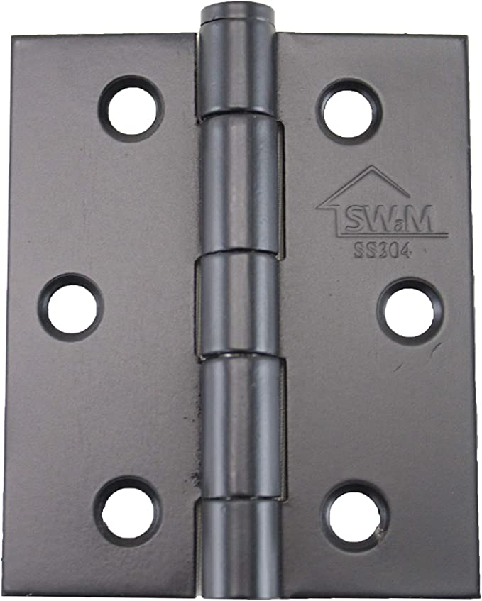 "V35BL Square Hinges Door 3/"" SQ DR 3.5 X 2.5 2.5 Black 0.08-Inch Hinge"