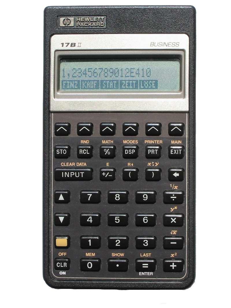 HP 17BII Financial Calculator Hewlett Packard HP17BII