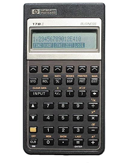 amazon com hp 17bii financial calculator electronics rh amazon com hp 17bii+ financial calculator user manual hp 17bii+ financial calculator manual español