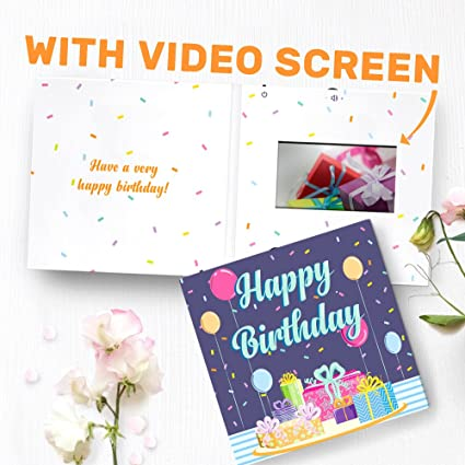 Amazon Birthday Greeting Card With Video Screen