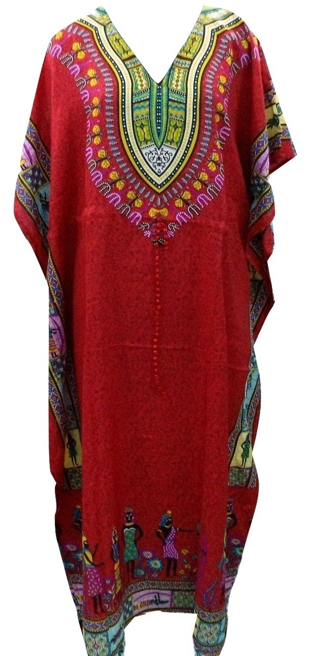 RiSi Women's African Kaftan, V-Neck Kimono Long Caftan Dress RC-047