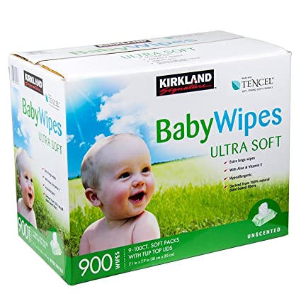 Kirkland Signature Unscented Baby Wipes Ultra Soft 900 Wipes