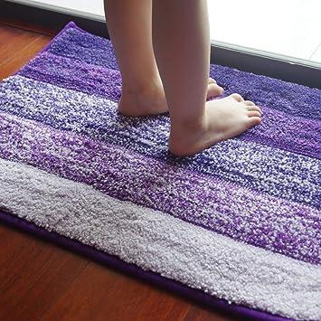 anfayejia non slip microfiber bath rug shower mat super soft for rh amazon co uk Funky Bathroom Rugs Purple and Silver Bathroom
