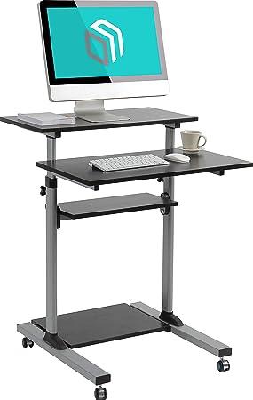ONKRON Soporte monitor ordenador escritorio móvil altura ajustable ...