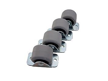 Ruedas giratorias de goma, de Castors, doble rueda, con placa metálica, para muebles, electrodomésticos y equipos pequeños, 30 mm: Amazon.es: Bricolaje y ...