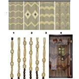 Rideau de porte en perles bois/bambou à accrocher, store contre les mouches et les insectes - Différents modèles