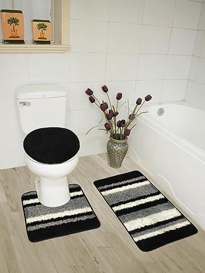 Amazoncom Abby 3 Piece Bathroom Rug Set Bath Rug Contour Rug