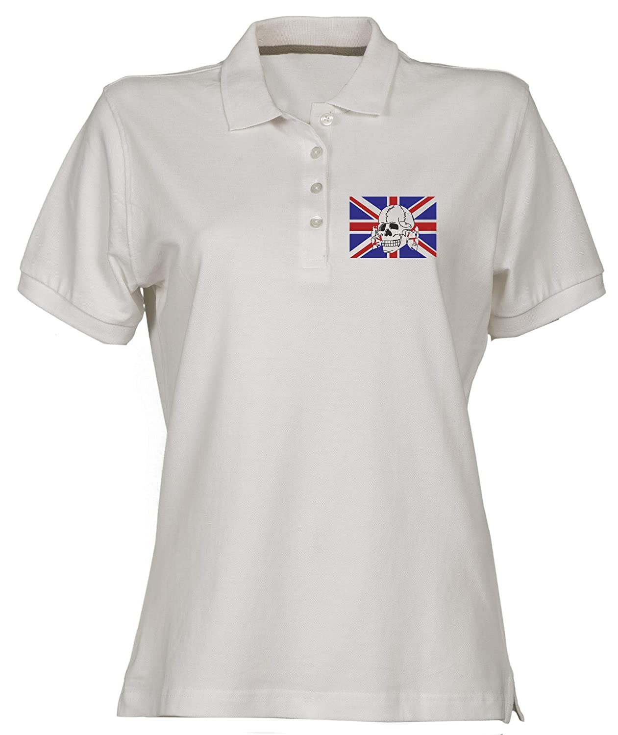 Polo para Mujer Blanco TUM0015 Chelsea Headhunters: Amazon.es ...