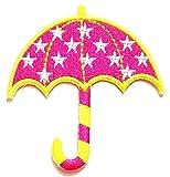 Nipitshop Patches Pink Umbrella Stars Cartoon Kids