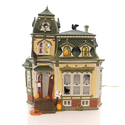 department 56 house haunted mansion ceramic halloween snow village 54935
