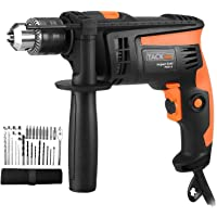 Hammer Drill 710W, 31 pcs Accessory Kit, Tacklife Impact Drill 2800 RPM Hammer & Drill 2 Modes in 1, 13mm Keyed Chuck, 360°Rotating Handle | PID01A