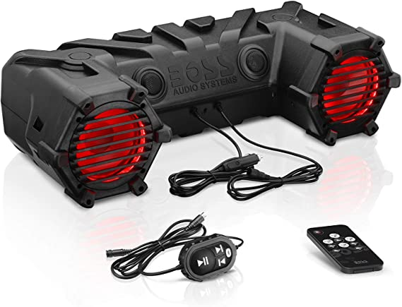 BOSS AUDIO 450W ATV//UTV Audio Sound System Soundbar Powersports Weather-Proof