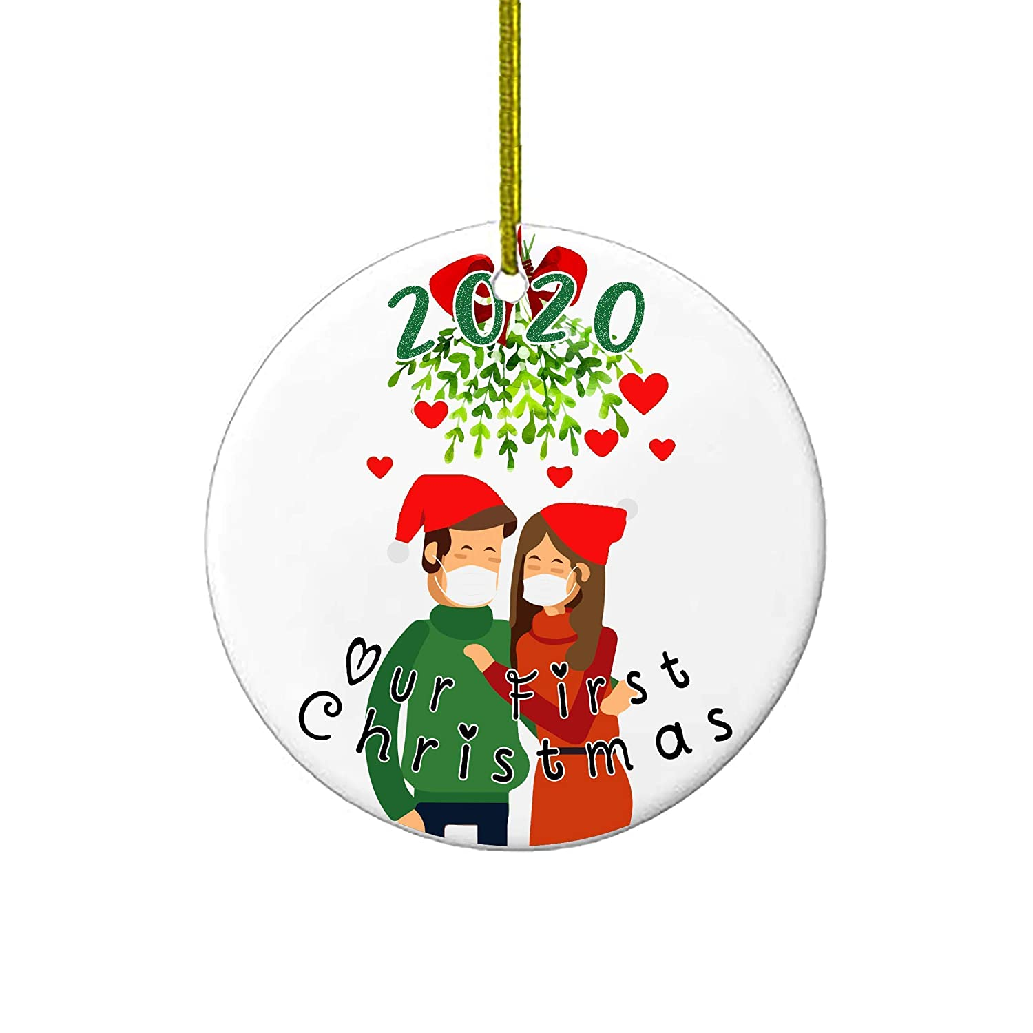 Holiday Deals For Christmas 2020 Amazon.com: Christmas Ornaments | Our First Christmas 2020 Funny