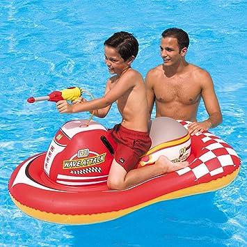 FBEST Gran lancha con Pistola de Agua Piscina Inflable Flotador Balsa de Agua Anillo de natación Asiento de bebé Piscina de Verano Piscina al Aire Libre Juguetes para niños/niños: Amazon.es: Deportes y