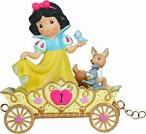 Precious Moments, Disney Showcase Collection,May Your Birthday Be The Fairest Of Them All, Age 1, Disney Birthday Parade, Resin Figurine, 104403