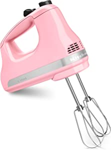 KitchenAid KHM512GU Ultra Power 5-Speed Hand Mixer, Guava Glaze