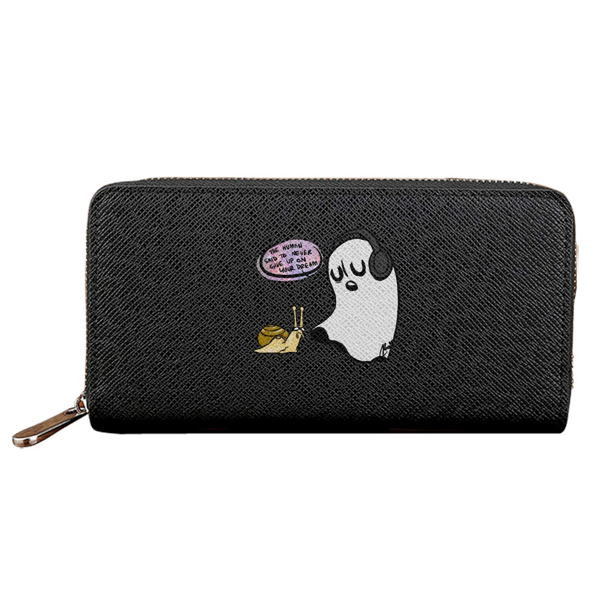 Undertale Ghost Non Credit Card With Zipper Wallet Business Casual Hand Wallet
