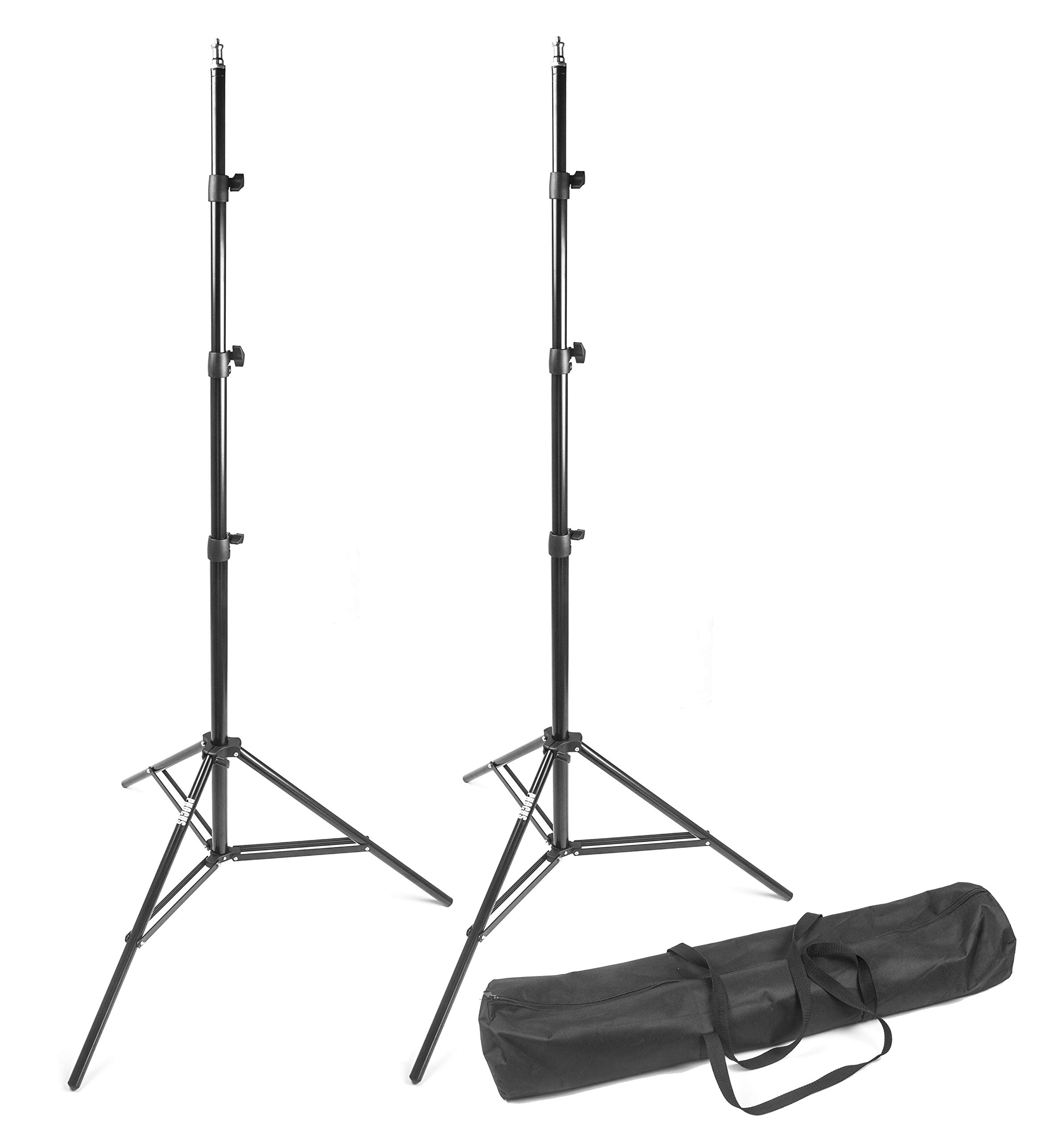 PHOCUS 8.8ft Compact Aluminum Light Stands for Photography with Carry Bag for Photo Studio & Video Lighting (2 Pack)