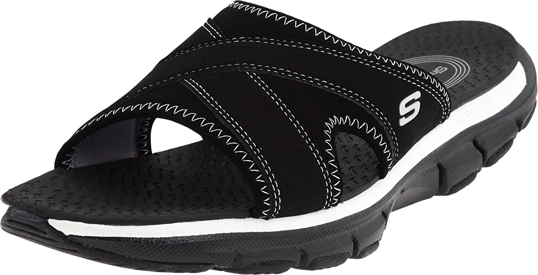 efab1b45aea5 Skechers Ladies Sandals Style - Beachy - Black and White - Size 3 UK  Amazon.co.uk   Shoes   Bags