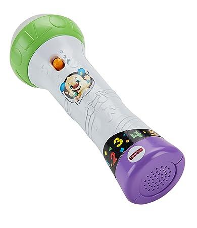 Fisher-Price FBP32 Lernspaß Mikrofon Lernspielzeug für Buchstaben Zahlen Farben und Sätzen mit Aufnahmefunktion, ab 18 Monate