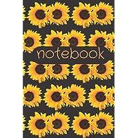 Notebook: Blank Lined Sunflower Notebook