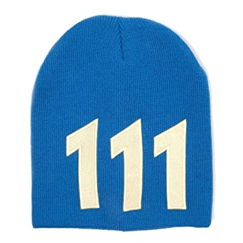 cf9b868db FALLOUT 4 Unisex Vault 111 Yellow Beanie Hat, Blue, One Size: Amazon ...