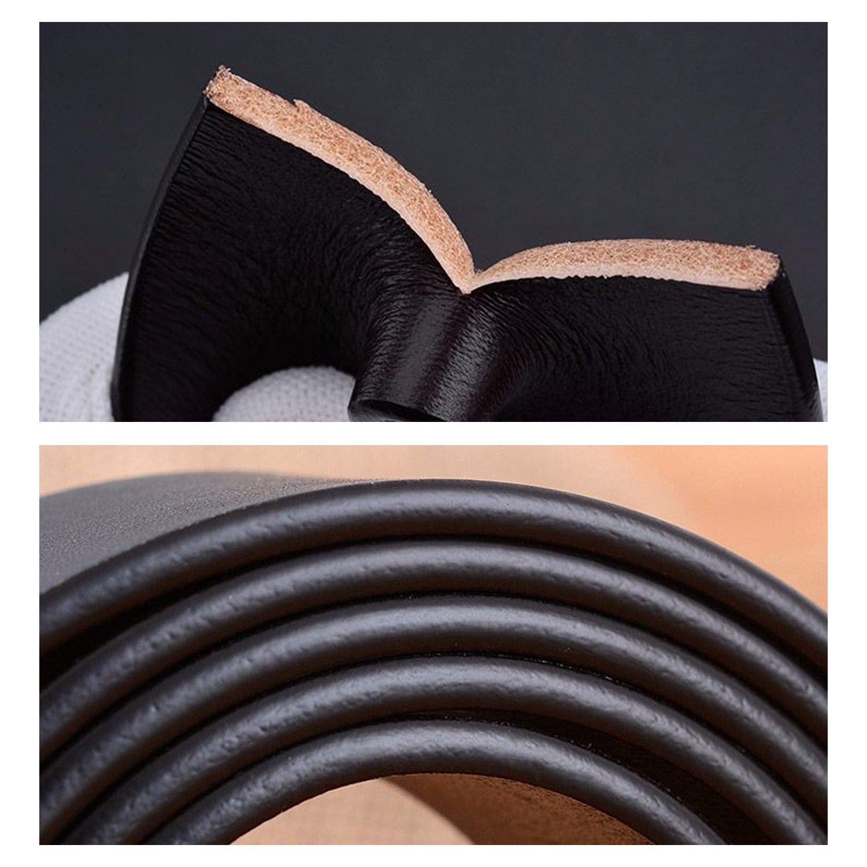 Mens Belt Cowhide Leather Dress Belt Classic Ratchet Belt with Buckle