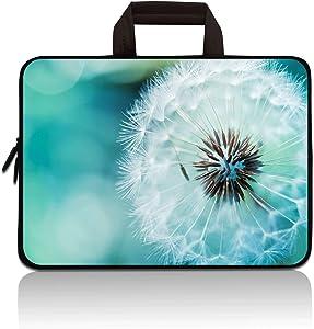 HYUTOTA 11 11.6 12.1 12.5 inch Laptop Carrying Bag Chromebook Case Notebook Ultrabook Bag Tablet Cover Neoprene Sleeve Fit Apple MacBook Air Samsung Google Acer HP DELL Lenovo Asus(Dandelion)