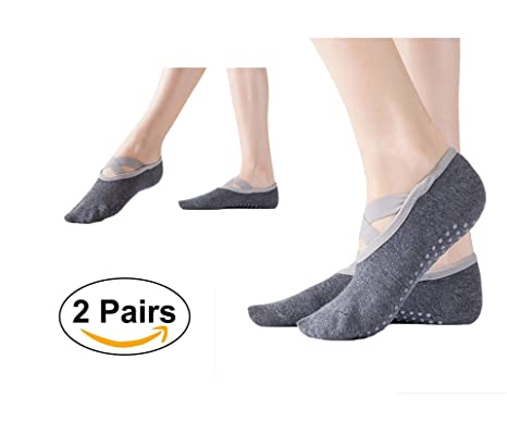 G 2 Pares Mujer Calcetines de Yoga Pilates Calcetines Fitness/Danza/Ballet