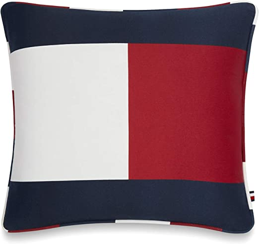Amazon.com: Tommy Hilfiger Flag Decorative Pillow, 7x7 inch, Red