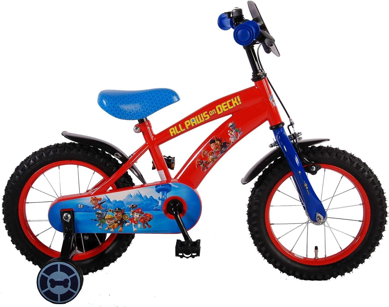 Boy bicicleta 14Inch Paw Patrol formación ruedas rojo 345años ...