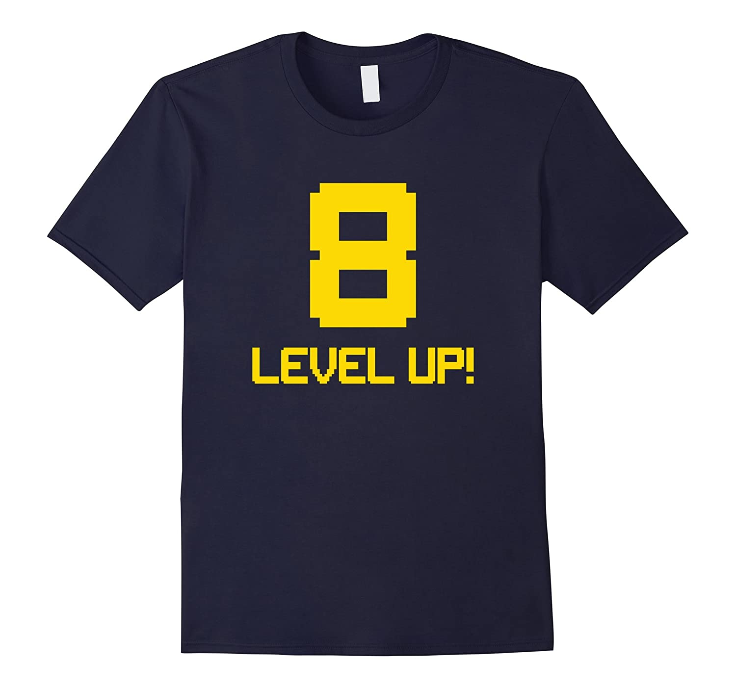 8th Gaming Birthday T-Shirt For Gamers - Level Up!-T-Shirt