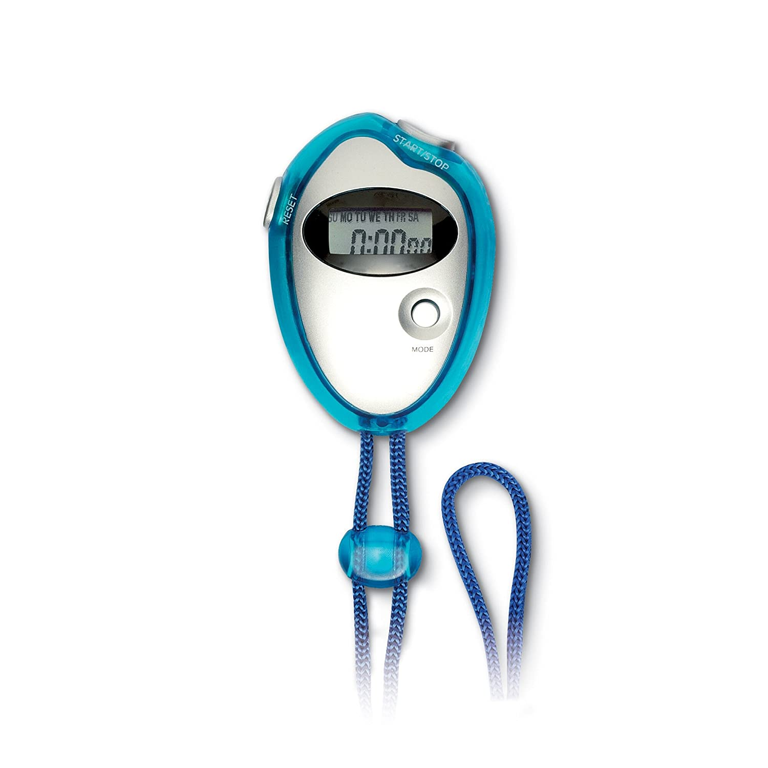 Digital stopwatch with necklace - transparent blue: Amazon