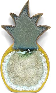 product image for Dock 6 Pottery Pineapple Magnet with Fused Glass, Green/Yellow