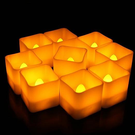 12 Pcs Lampe Bougie à LED Pile Vacillant Sans Flamme Fête Mariage Anniversaire