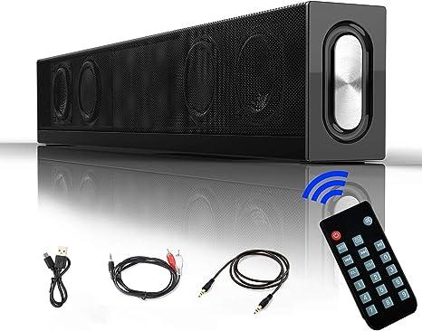 20w Soundbar Lautsprecher Vier Treiber 18 Zoll Tragbarer 4 2 Bluetooth Speaker Soundbox Mit 4500mah Akku Stereoanlage Kabelgebundenes Und Kabelloses Heimkino Für Tv Tablet Pc Computer Smartphone Audio Hifi