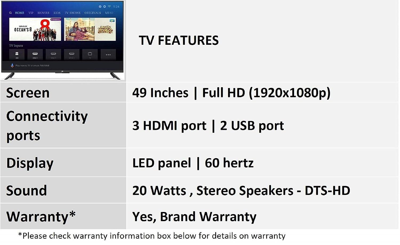 Mi LED TV 4A PRO 123 2 cm (49) Full HD Android TV (Black)