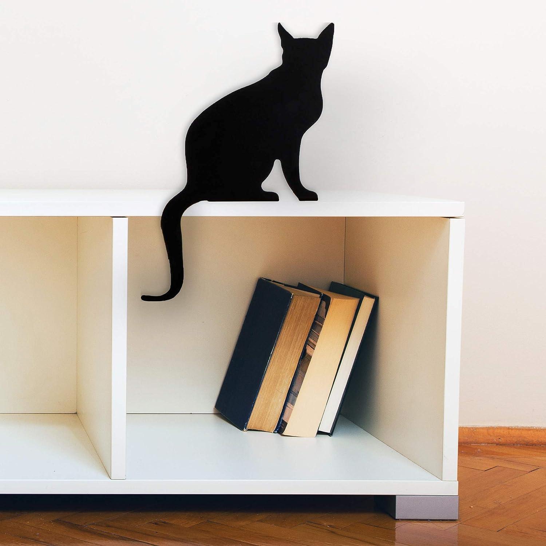 Figura Churchill Estatuilla de Gato Decorativa Decoraci/ón de Gatos para la casa Regalo para Amantes de los Gatos Silueta de Gato Decorativa met/álica Artori Design CatS Meow